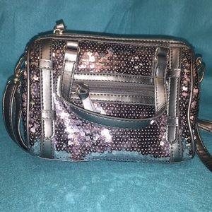 NY&C's Pleather & Sequined Crossbody Bag